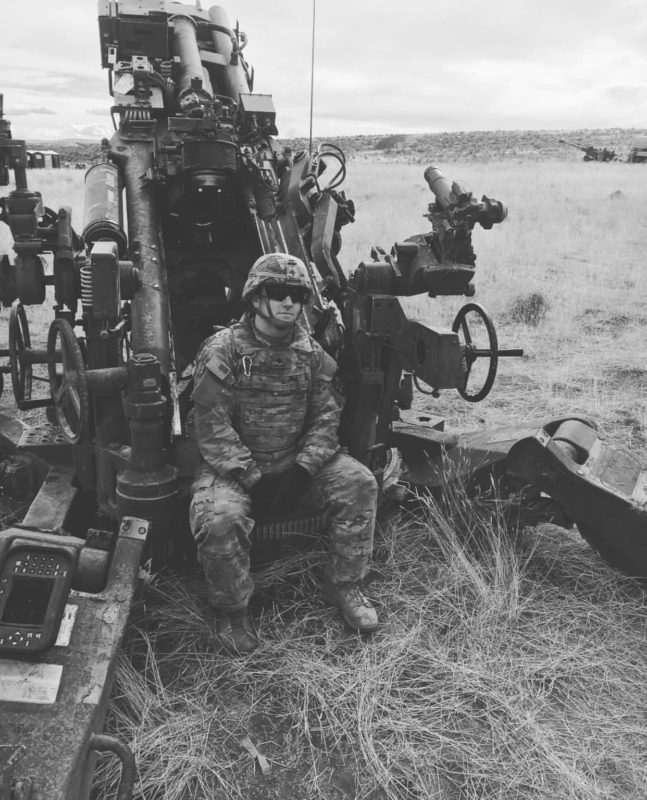 Brandon during his service in the US Army.